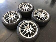 "20"" BLACK Porsche Panamera RS Spyder BBS OEM Factory Wheels Cayenne"