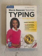 Mavis Beacon Teaches Typing  Family Edition - PC MAC DVD ROM  SEALED