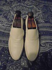 GRENSON TRUE MOCCASIN Hand Sewn England Soft Leather Slip on Mens Sz 8 1/2