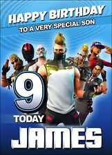 FORTNITE Personalised Birthday Card Fortnight Game Online Battle XBox Boy MMO