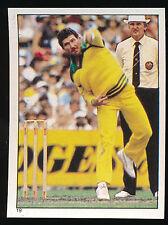 1984 Scanlens Cricket Sticker unused number 19 Allan Border