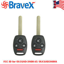 2 New Car key for Honda Accord 2003-2007 ELEMENT Keyless Entry Remote Car Key US