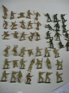 Marx MPC Vintage Toy Soldier BIG LOT World War 2 Pacific Japanese Playset 1/32