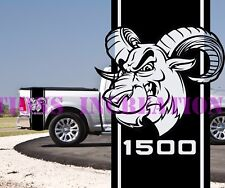 Hemi Dodge 1500 Ram Bed Stripes Truck Decals Mopar Stickers Vynil Car Graphics