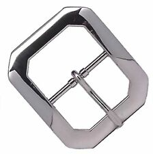 """Clipped Corner Nickel Plated Belt Buckle 1-1/2"""" 1587-00 by Stecksstore"""