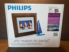 """Philips Home Essentials 7"""" Digital Photo Frame LCD Panel Brown Wood SPF3407 / G7"""
