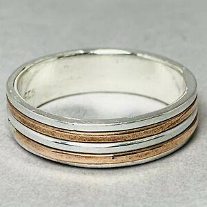 Solid 925 Sterling Silver Spinner Ring Meditation Statement Handmade Ik713