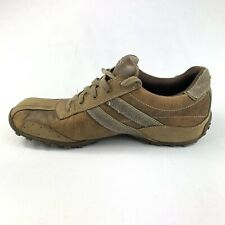 SKECHERS 60538 Citywalk Brown Leather Synthetic Casual Oxford Shoes Mens Sz 11