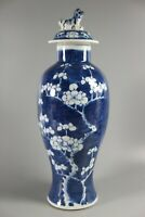 Antique Chinese Prunus Vase And Cover or Temple Jar 19th Century
