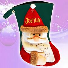 PERSONALISED Deluxe 3D Quality Christmas Stocking Santa Stocking felt material