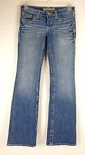Big Star Women's Jeans Sweet Ultra Low Rise Boot Cut Medium Wash Size 28L