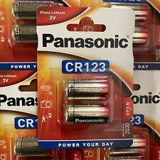 2 x PANASONIC CR123A 3V LITHIUM PHOTO BATTERY 123 CR123 DL123 CR17345 CAMERA
