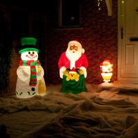 Outdoor Santa Snowman LED Blow Mould Christmas Figure | Character Decoration