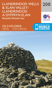 Llandrindod Wells Elan Valley Rhayad 200 Explorer Map Ordnance Survey
