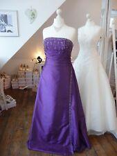 W. NEU! Allure Bridal Ballkleid Gr 42 lila Taft Schnürung Perlen Galaball Braut
