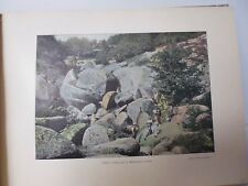SUISSE BRETONNE/ Gravure 19° in folio couleur /HUELGOAT. LE MESSAGE DE LA VIERGE