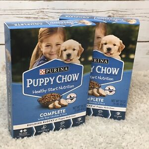 Purina Puppy Chow Food Lot Of 2 Boxes 16 Oz Each Healthy Start Complete NEW