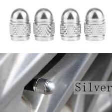 4x Universal Silver Bullet Shaped Auto Car Motorcycle Wheel Tire Valve Cap Seal