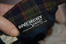 vintage givenchy sport luxe tartan pencil skirt
