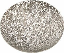 Large Pewter Bowl With Skull and Heart Design 205mm Diameter