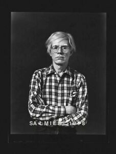 """ANDY WARHOL PHOTO 4X5"""" DKRM CONTACT PRINT VINTAGE 1977 SIGNED ORIG"""