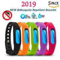 5X Natural Anti Mosquito Insect & Bug Repellent Bracelet Bands & tracking number