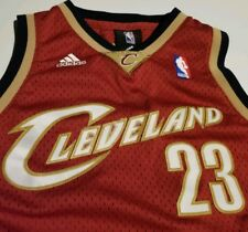 Adidas Lebron James Clev Cavs Addidas Authentics Jersey Sewn Youth 10-12