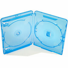 50 X Genuino Plástico Dvd Blu Ray por Amaray Estuche Doble De Columna 14 mm Nuevo