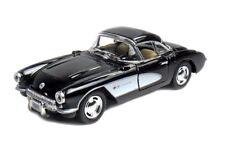 Kinsmart 1:34 Sclae 1957 Chevrolet Corvette Chevy Diecast Model Toy Car BLACK
