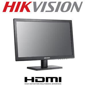 "HIKVISION HIWATCH LED CCTV MONITOR 22"" 1080P HDMI VGA SCREEN BNC SPEAKERS AUDIO"