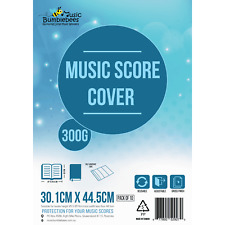 Adjustable Gloss Finish Clear Music Score Covers Pack of 10 - 3 Sizes