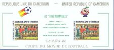 Cameroon 1982 World Cup Spain Block Deluxe Proof on carton. VF and Rare Read nfo