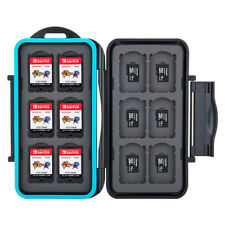Memory Card Case for 12 Nintendo Switch Game Cards and 12 Micro SD / Black