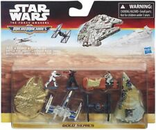 STAR WARS MICRO MACHINES ORO BATTLE FOR JAKKU DELUXE VEHICLE PACK 7 PZ NUOVO