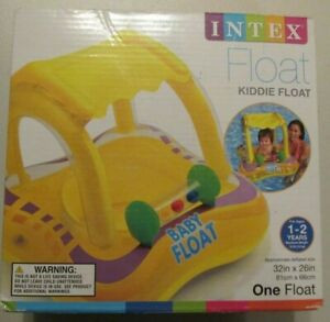 INTEX Kiddie Float With Canopy - Ages 1-2 yrs Baby Boat - NEW! Sunshine Yellow!