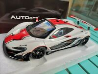 Autoart 1/18 MCLAREN P1 GTR GLOSS WHITE/RED STRIPES 2015