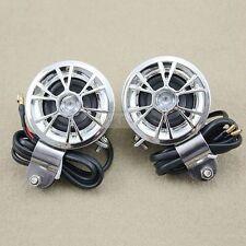 2 x 12V mini haut-parleurs pour ampli/amplificateur voiture moto radio MP3 ipod