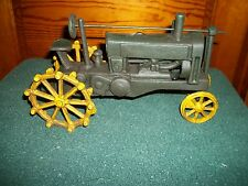 HEAVY CAST IRON TRACTOR JOHN DEERE DISPLAY COLLECTION loose wheels move NICE