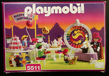 Playmobil 5511 Children's Birthday Party Victorian 1998 Magician Play Set w/ Box