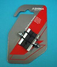 Ashima Bicycle Caliper Brake Pads 40mm X-Pattern 1 pack of 2, BMX, Road, MTB