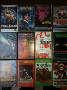 12       Filme      VHS   Sammlung