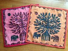 NEW SET OF 2 Tree of Life Cushion Covers Home Decor 46cm x 46cm Size 18