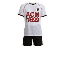 Pijama verano hombre A.C. Milan oficial MI14066 - Blanco S403