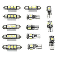13X Car Interior LED Lights Bulbs Kit White For MK5 MKV 2003-2009 /FA