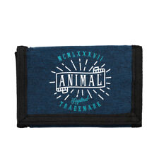 ANIMAL MENS WALLET.EXPLOITED NAVY BLUE COIN CREDIT CARD MONEY NOTE PURSE 8W 6 F9