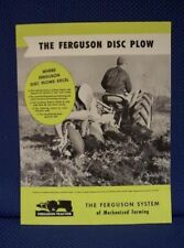 1952 HARRY FERGUSON Disc Plow Sales Brochure - New Old Stock