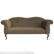 "71"" Large Double Ended Chaise Longue Lounge Sofa Day Bed Seat Mink Fabric UK"