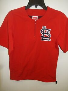 0220 Boys ST LOUIS CARDINALS Authentic Batting Practice Jersey JACKET Pullover