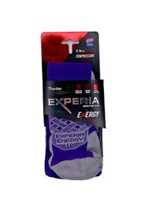 Thorlos Womens Experia Over the Calf Compression Socks Size S Shoe 7-9 Purple