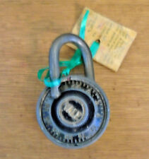 VINTAGE YALE COMBINATION PADLOCK WITH COMBINATION-GOOD CONDITION (5105-526)